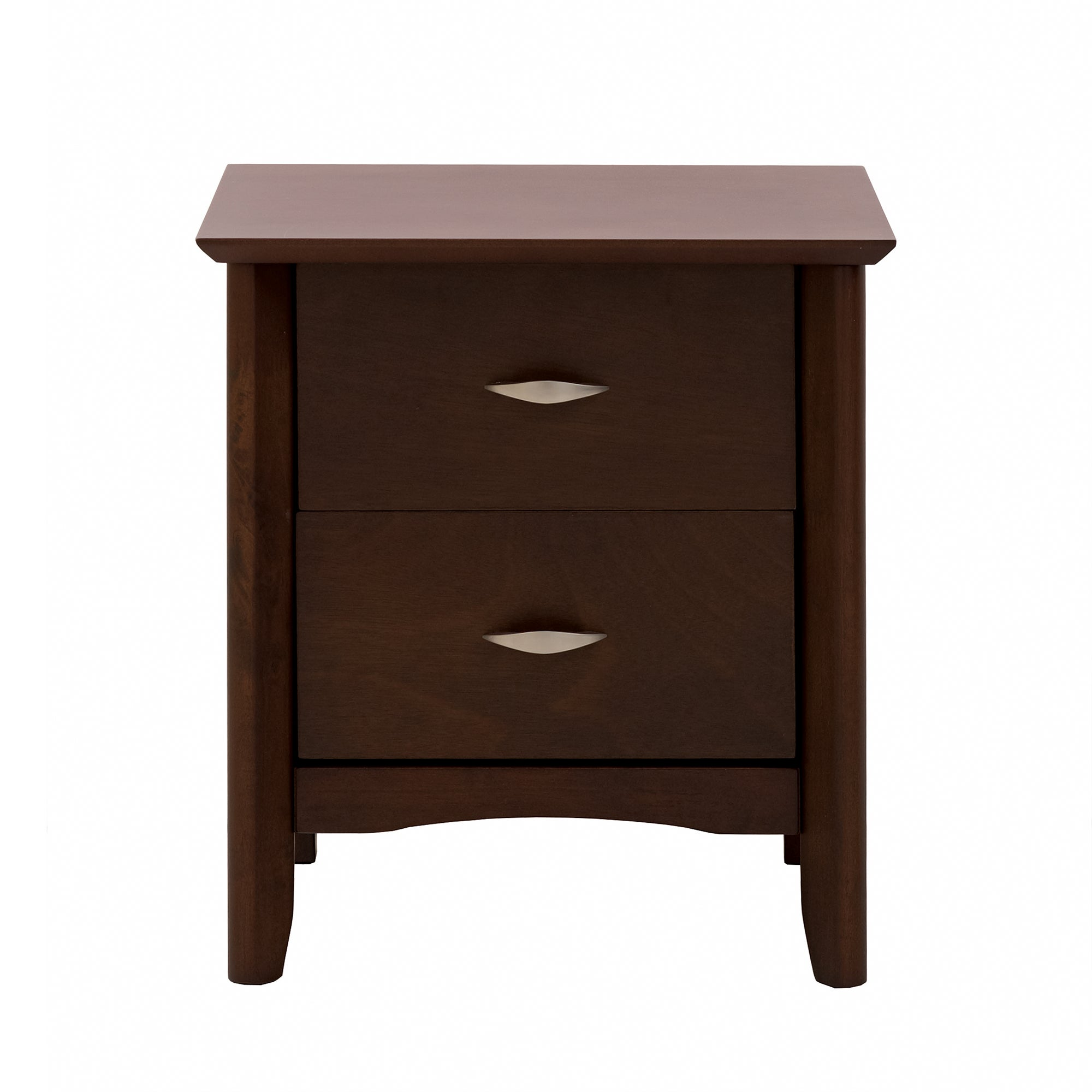 Monet Dark Wood 2 Drawer Bedside Unit