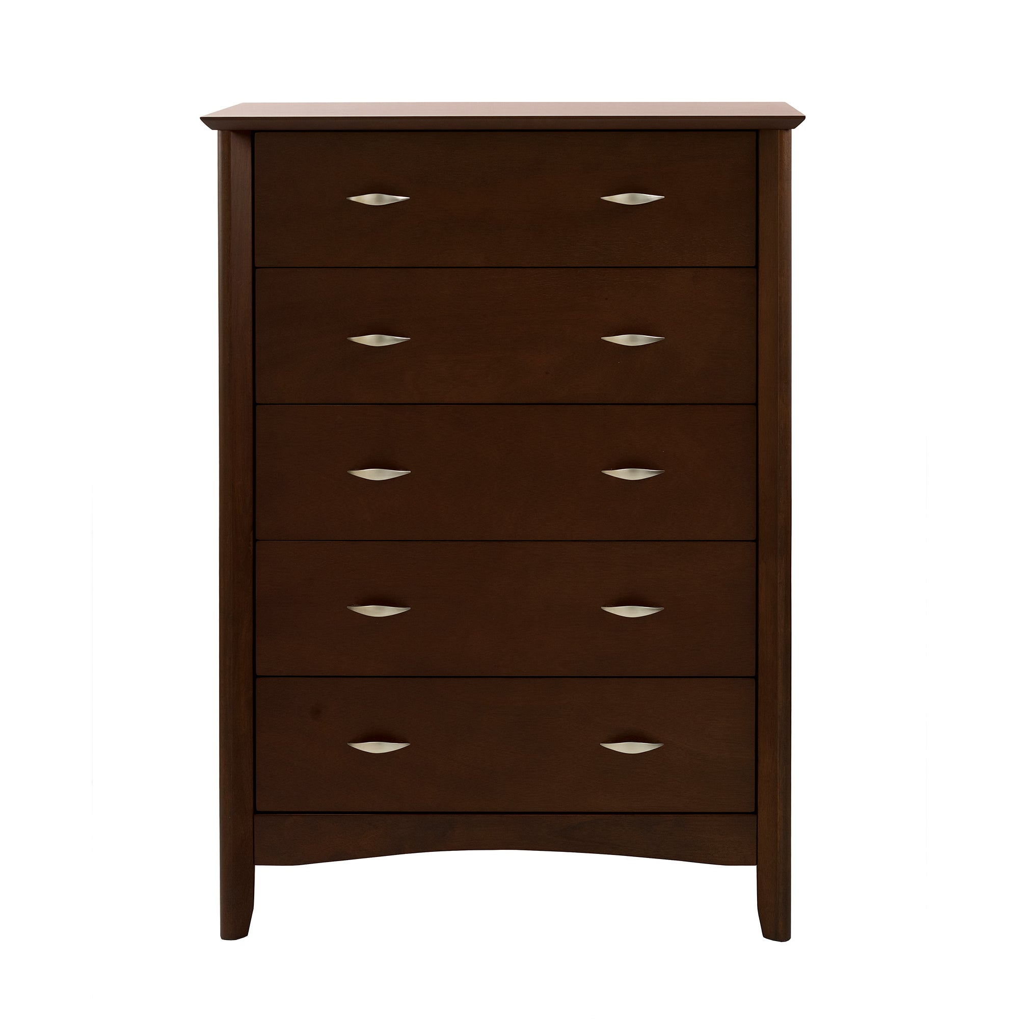 Monet Dark Wood 5 Drawer Chest
