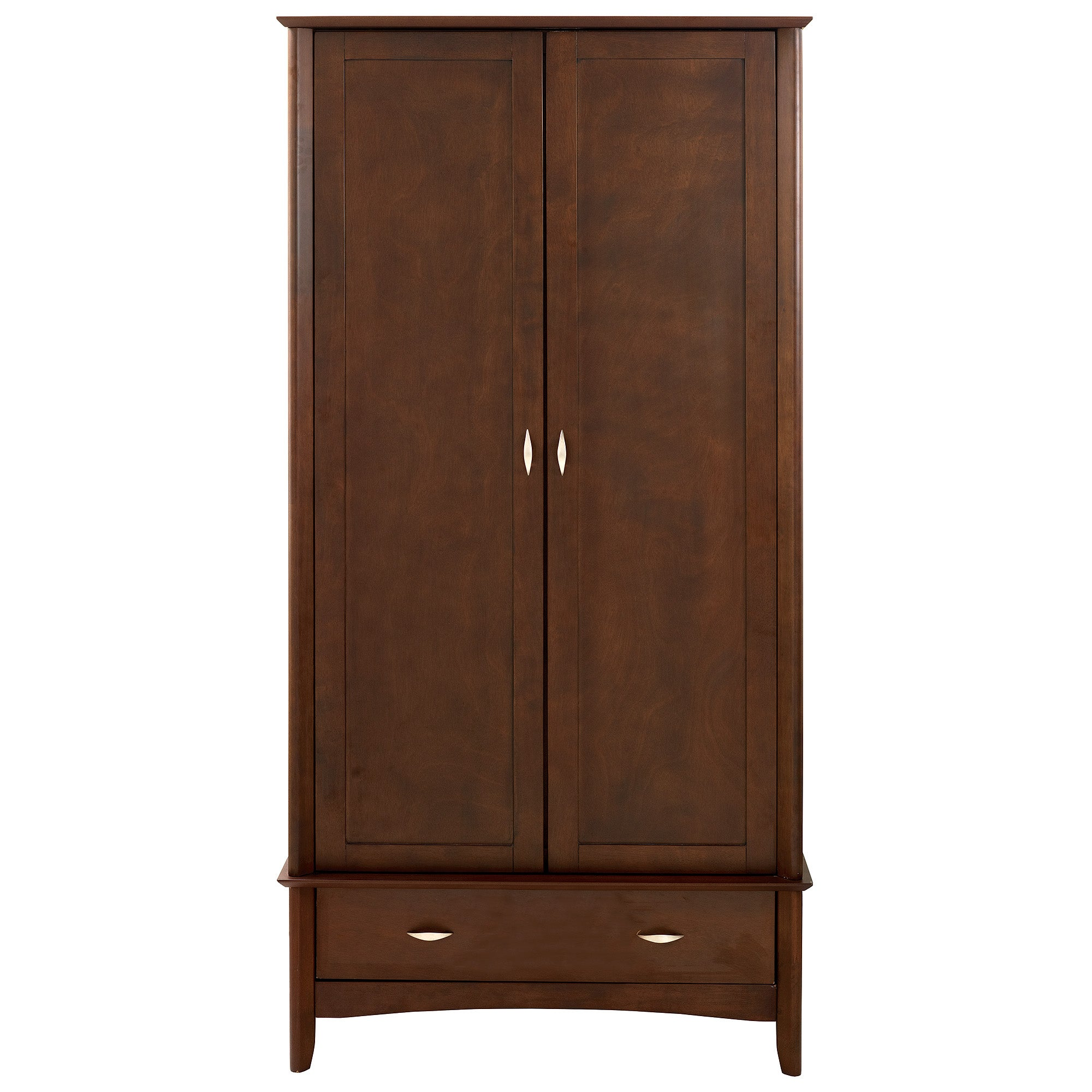 Monet Dark Wood Double Wardrobe