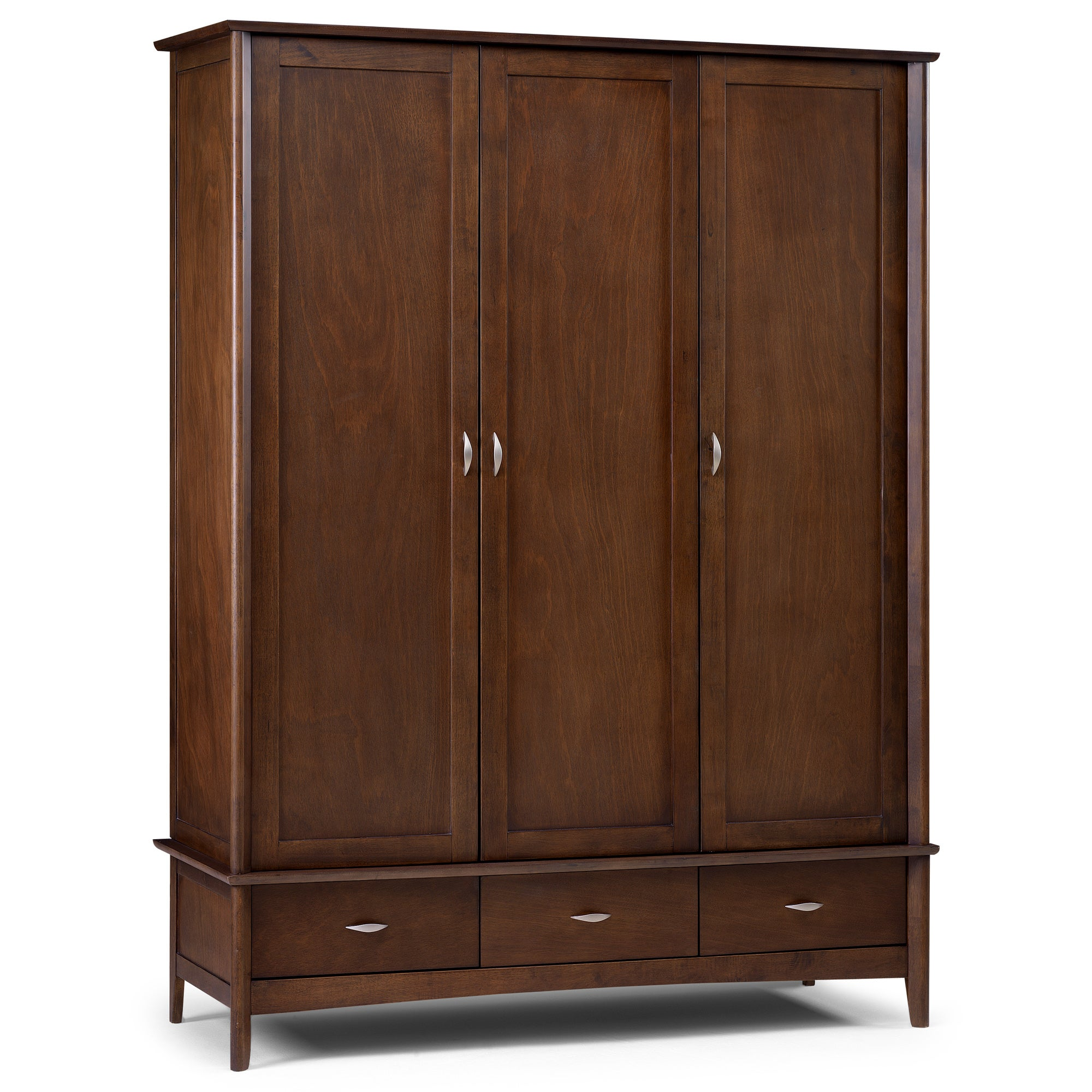 Monet Dark Wood Triple Wardrobe