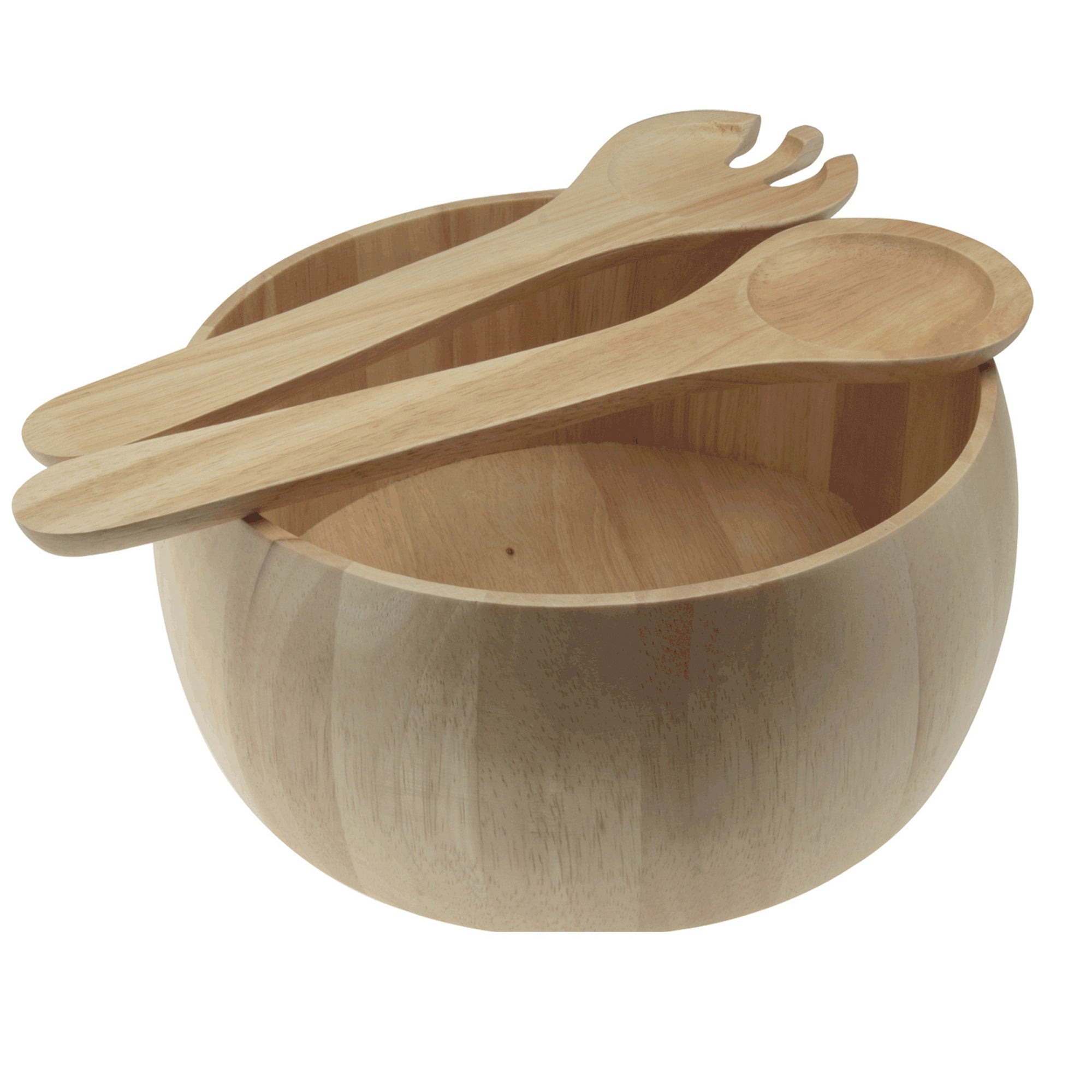 Wooden Salad Bowl and Servers