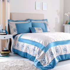 Teal Kiera Collection Bedspread