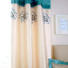 Teal Kiera Collection Curtains