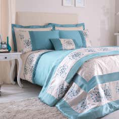 Teal Kiera Collection Duvet Cover