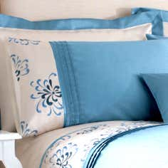 Teal Kiera Collection Housewife Pillowcase