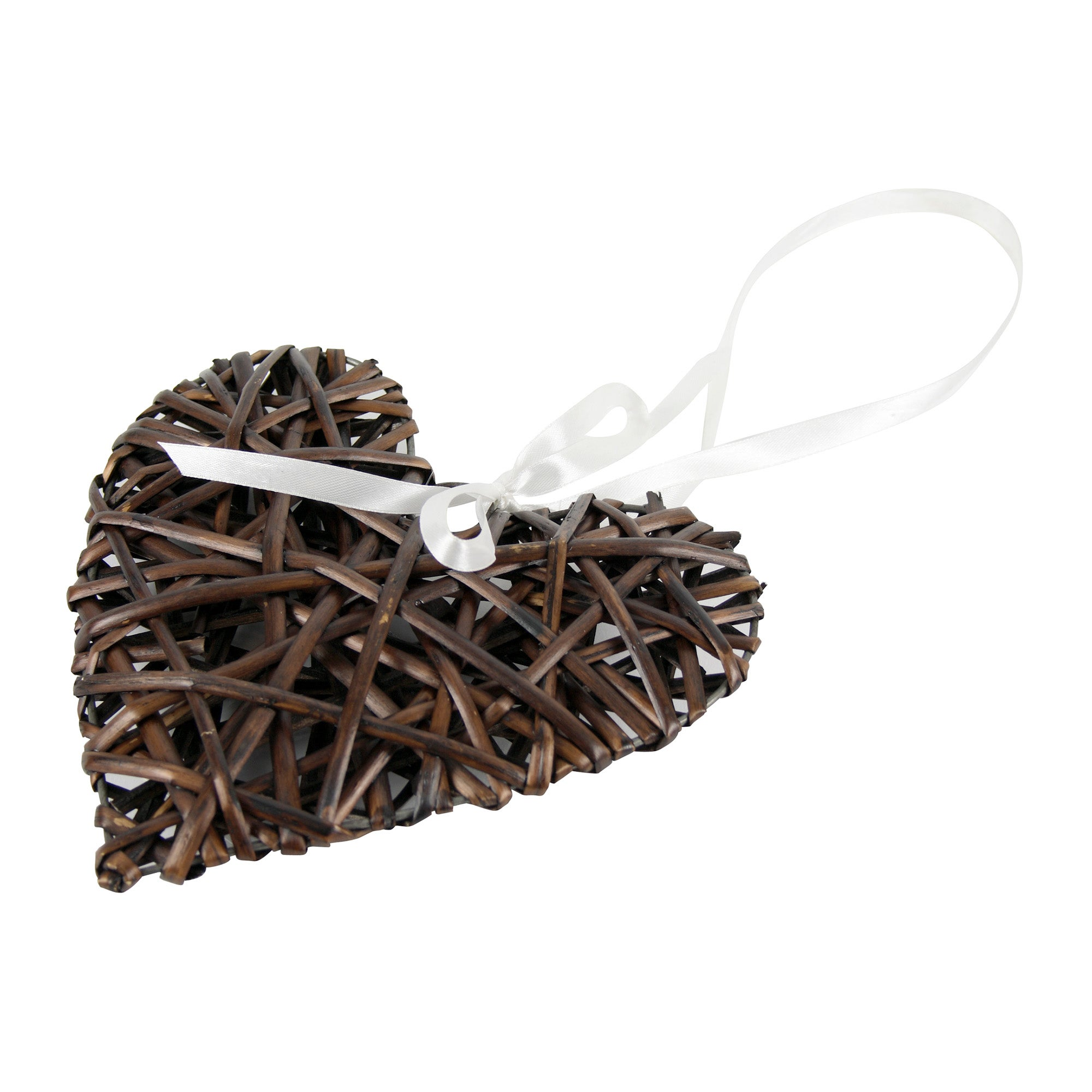 Chocolate Hanging Wicker Heart