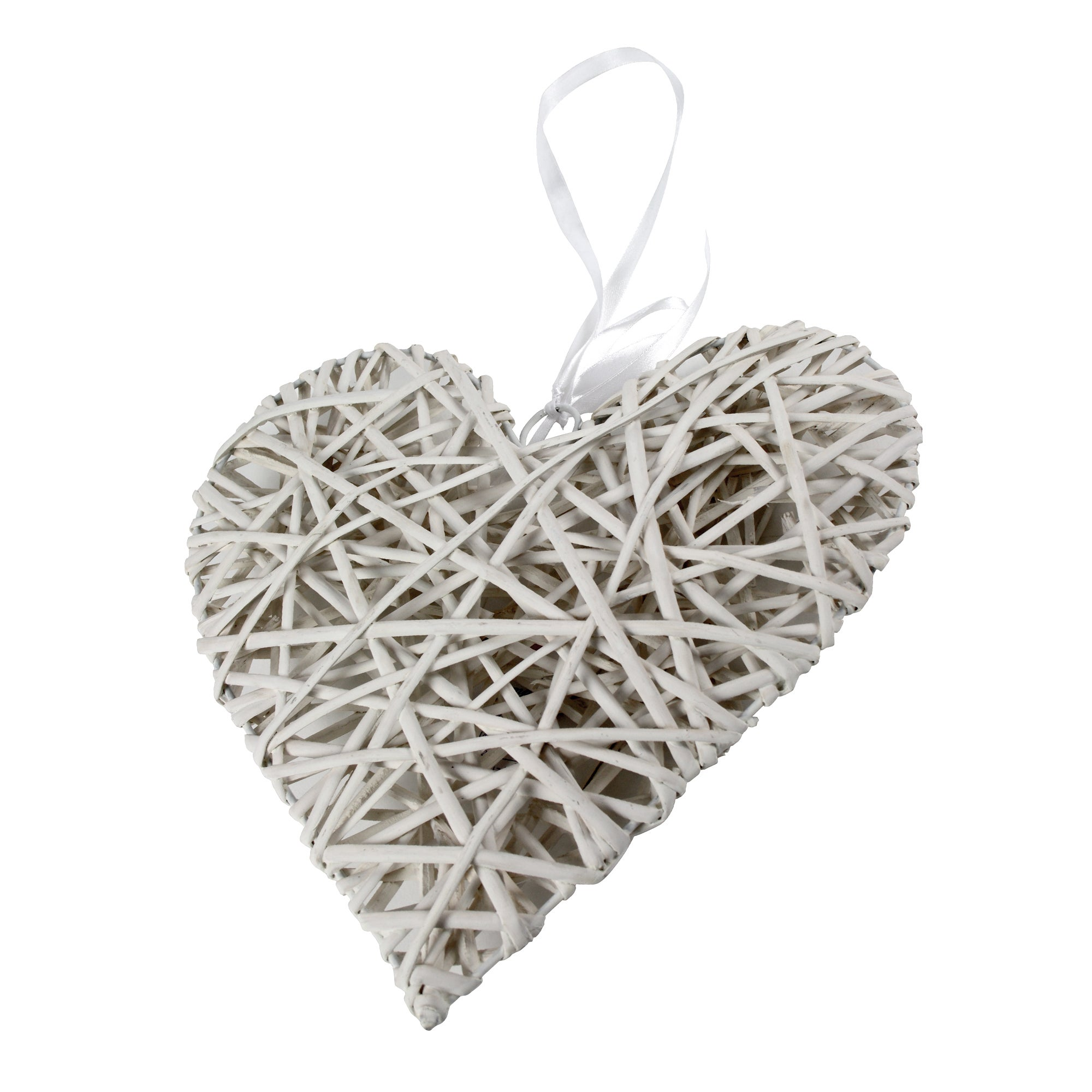 White Wicker Heart