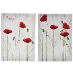 Set of 2 Poppy Canvas Prints