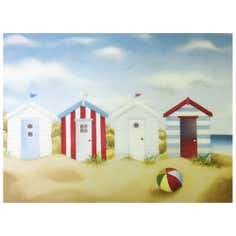 Beach Huts Printed Canvas