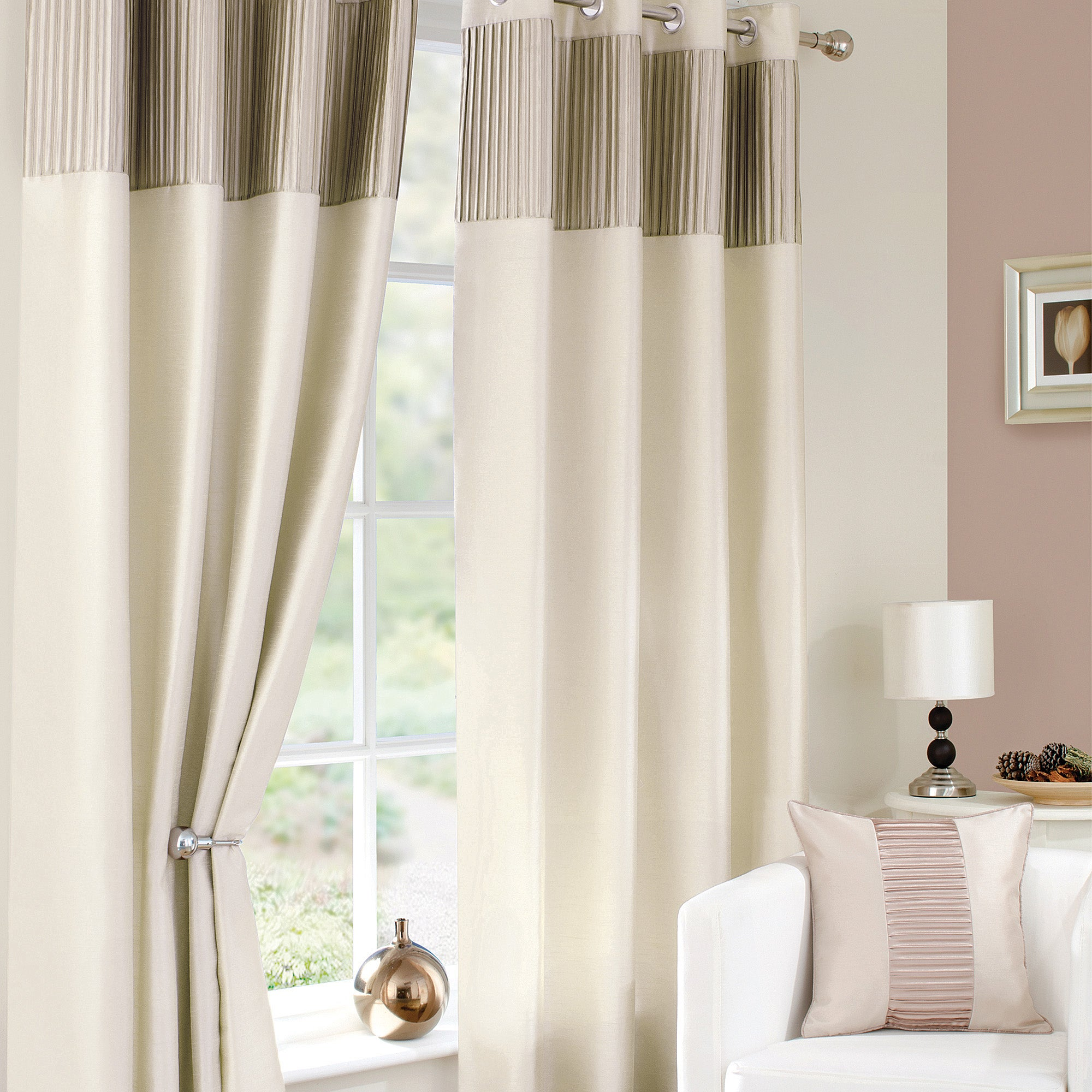 Ivory Montreal Curtain Collection