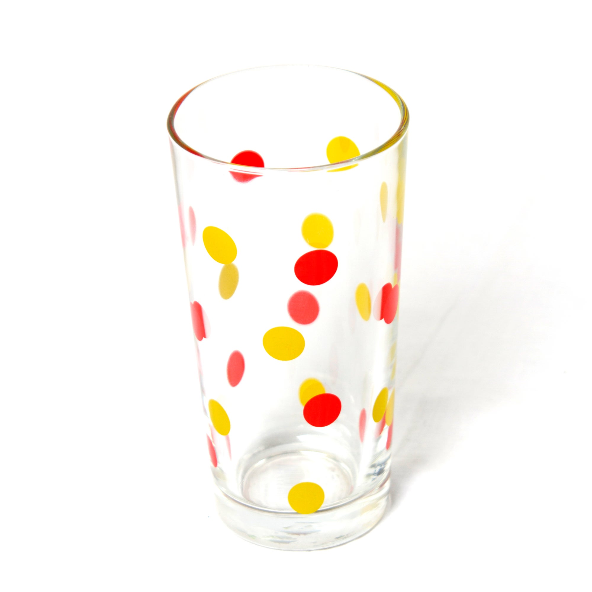 Red Spots Hiball Glass