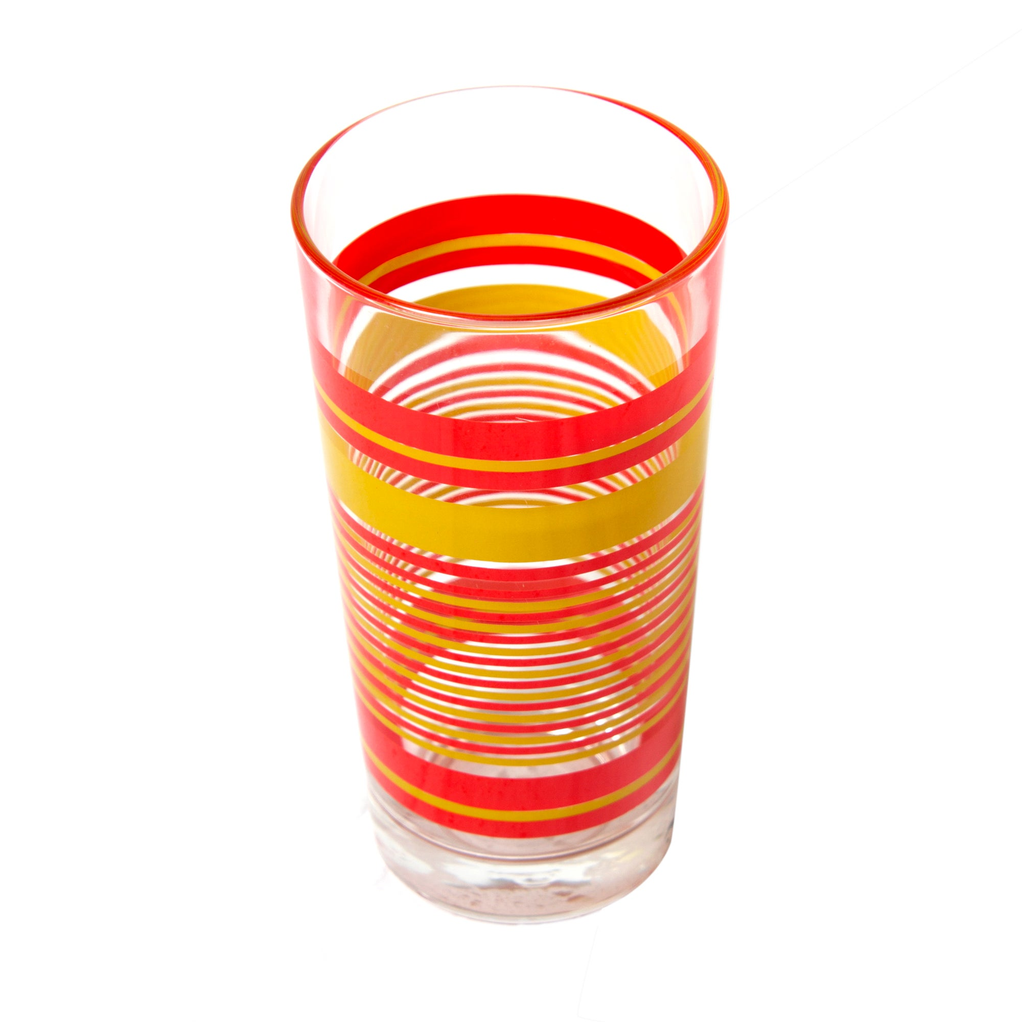 Red Stripes Hiball Glass