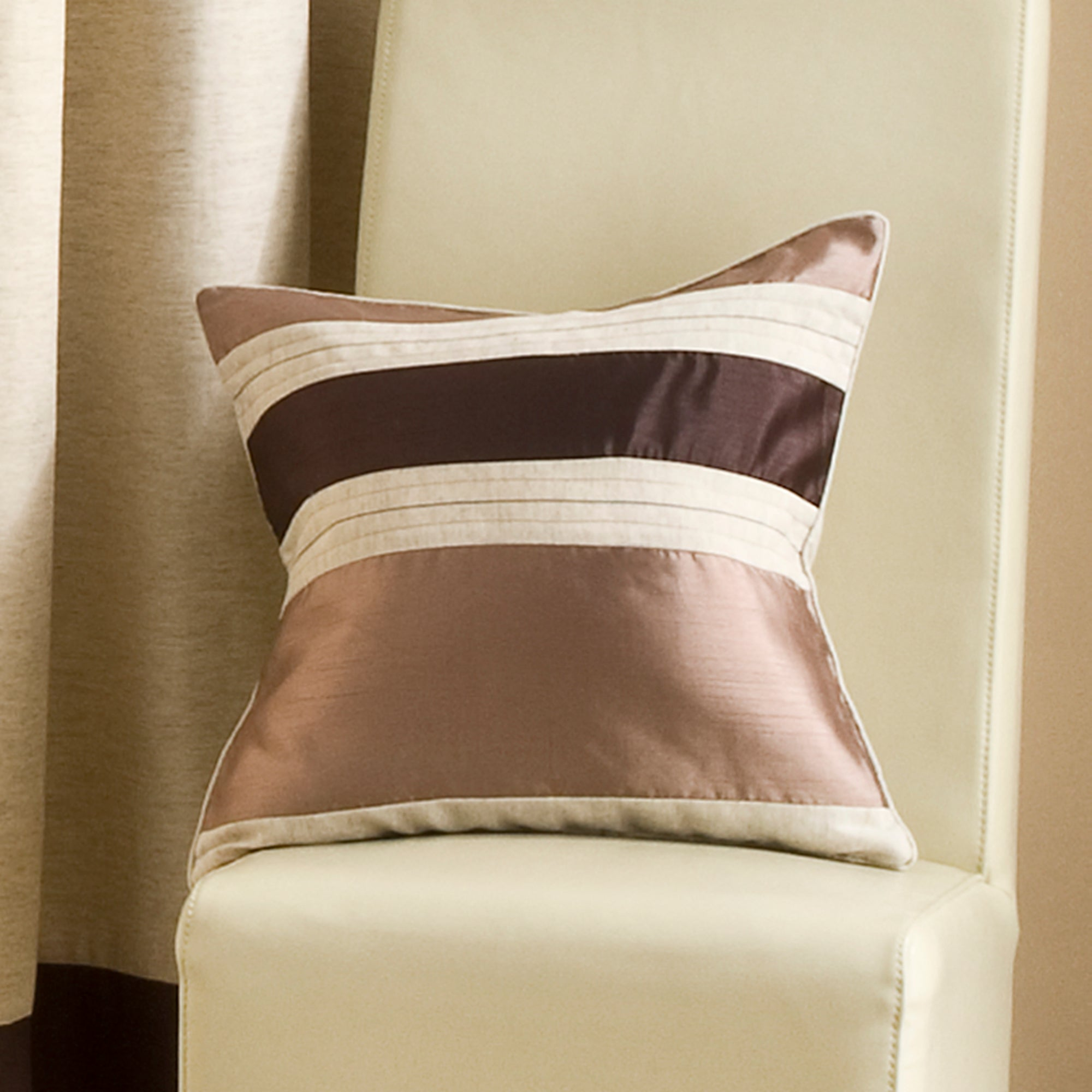 Chocolate Alban Collection Cushion