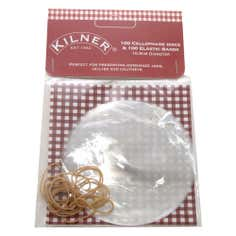 Kilner Pack of 100 Cellophane Discs with Bands