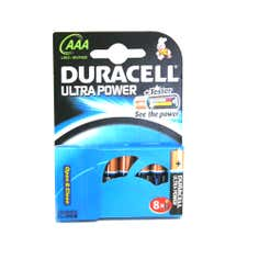 Duracell Ultra Power AAA 4 Pack with 4 Free Batteries