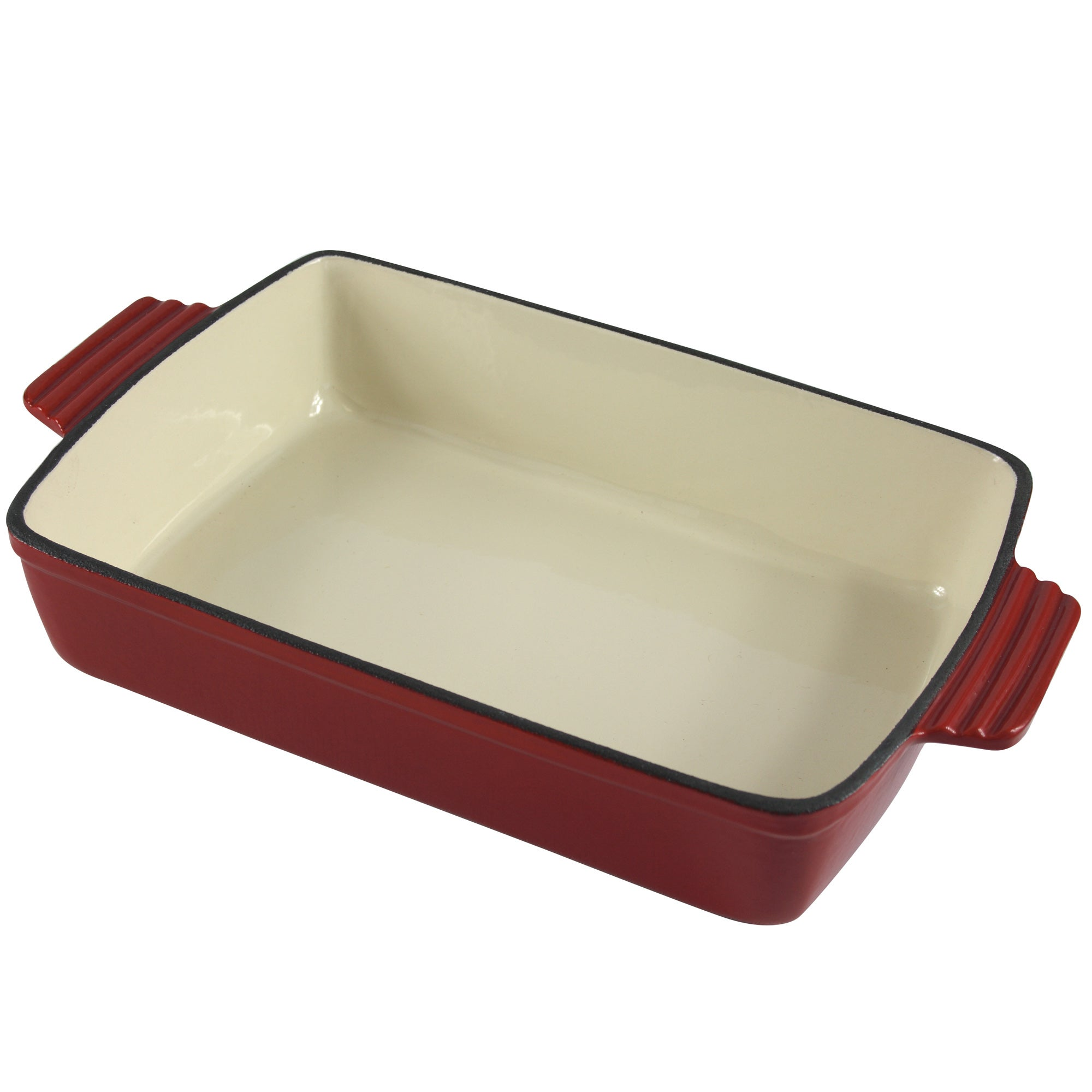Red Spectrum Collection Cast Iron Rectangular Roaster