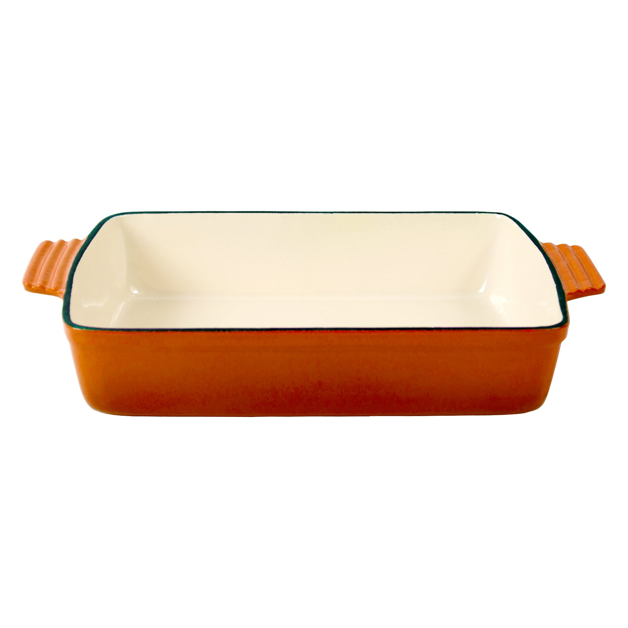 Orange Spectrum Collection Cast Iron Rectangular Roaster