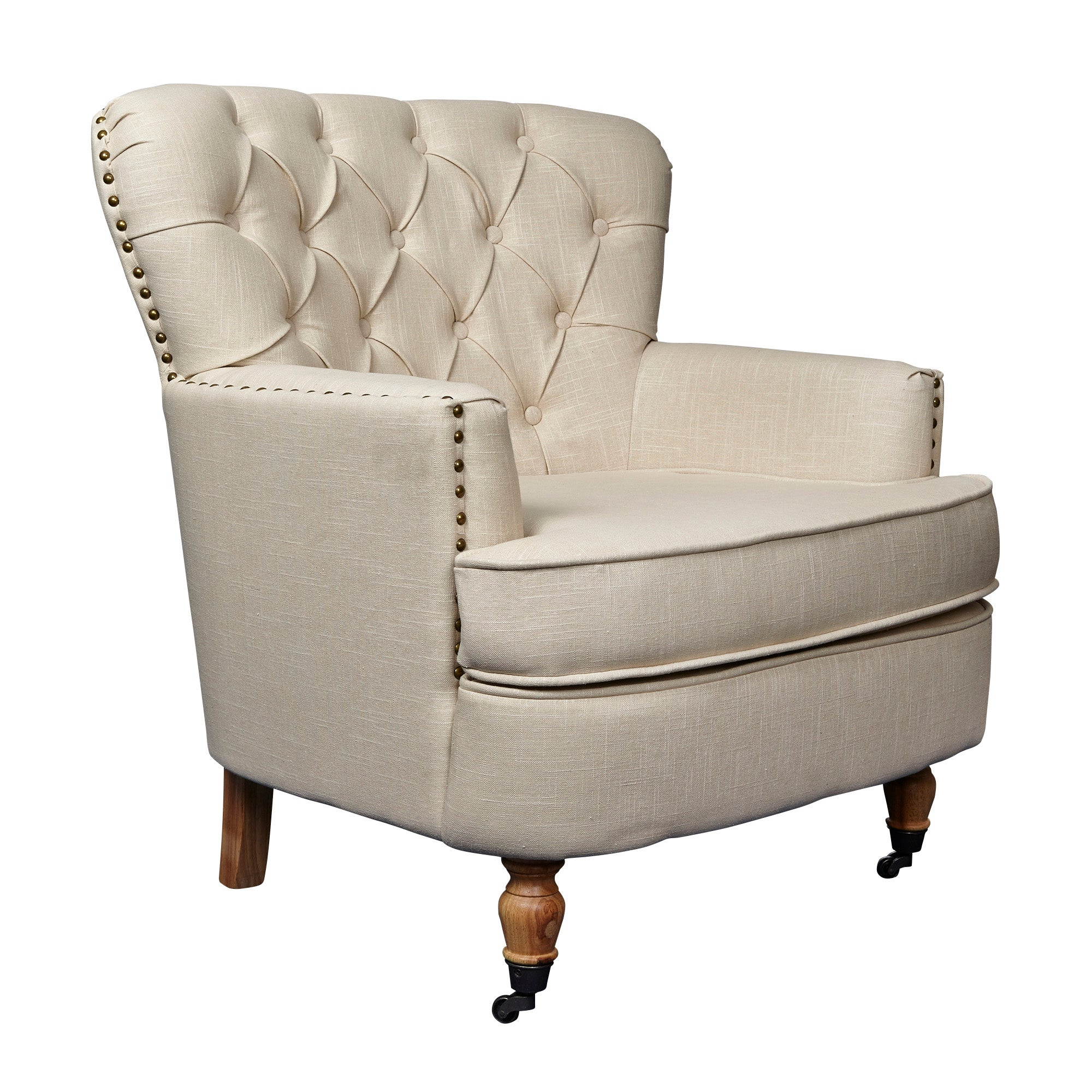 Cream Collette Button Back Armchair