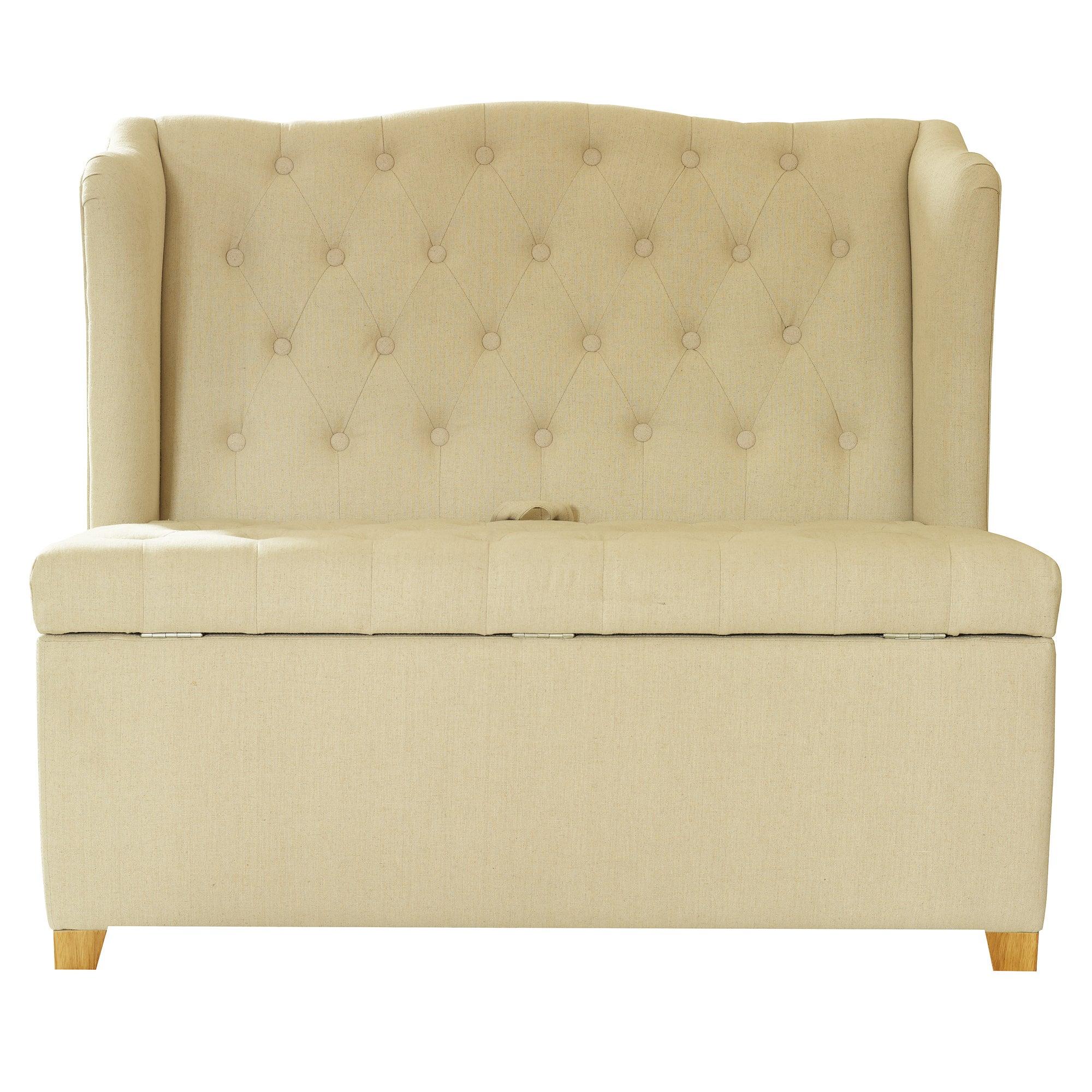 Cream Antoinette Ottoman Bench Seat