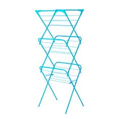 Teal Spectrum Collection Slim 3 Tier Airer