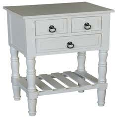 Brooklyn White Side Table