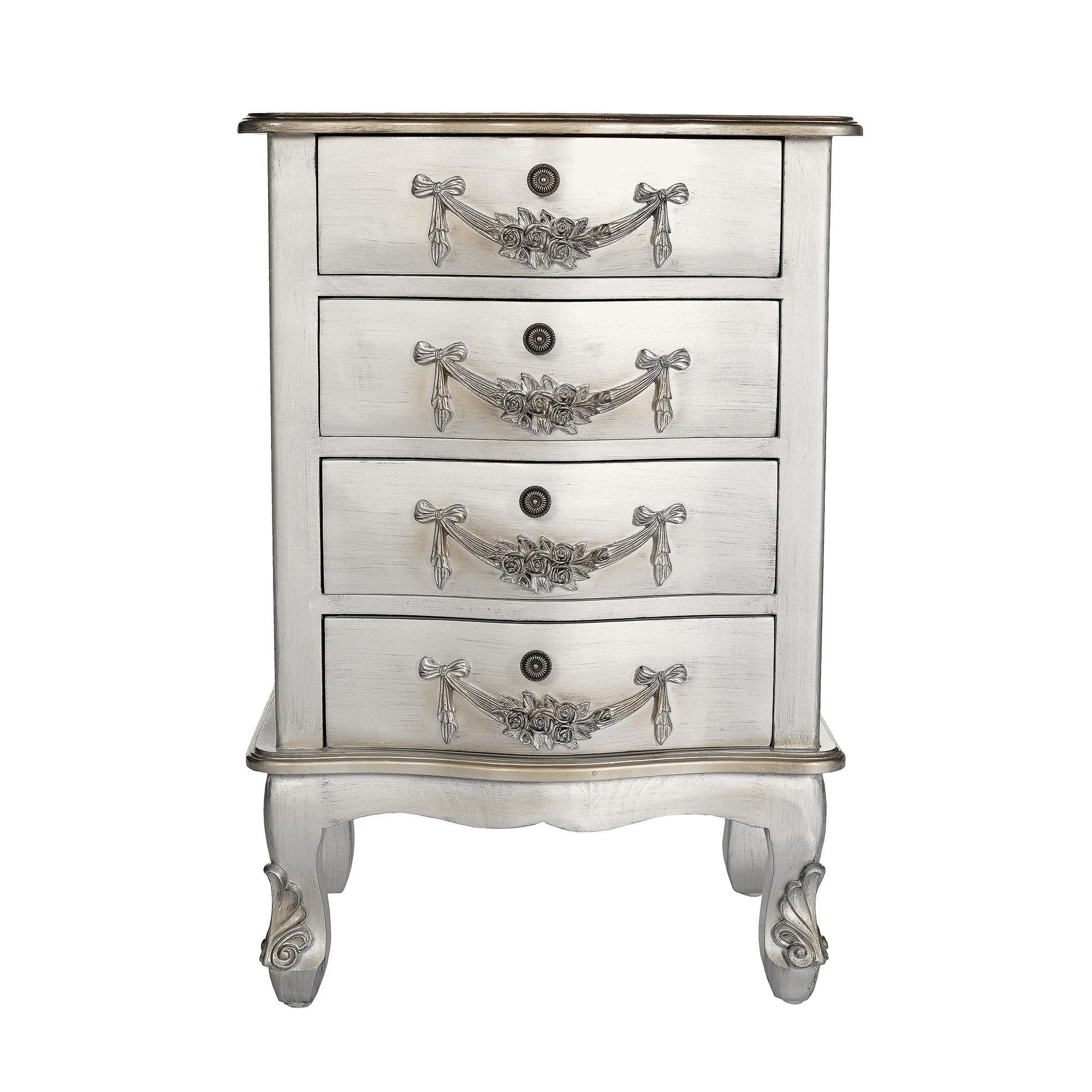 Toulouse Silver 4 Drawer Cabinet