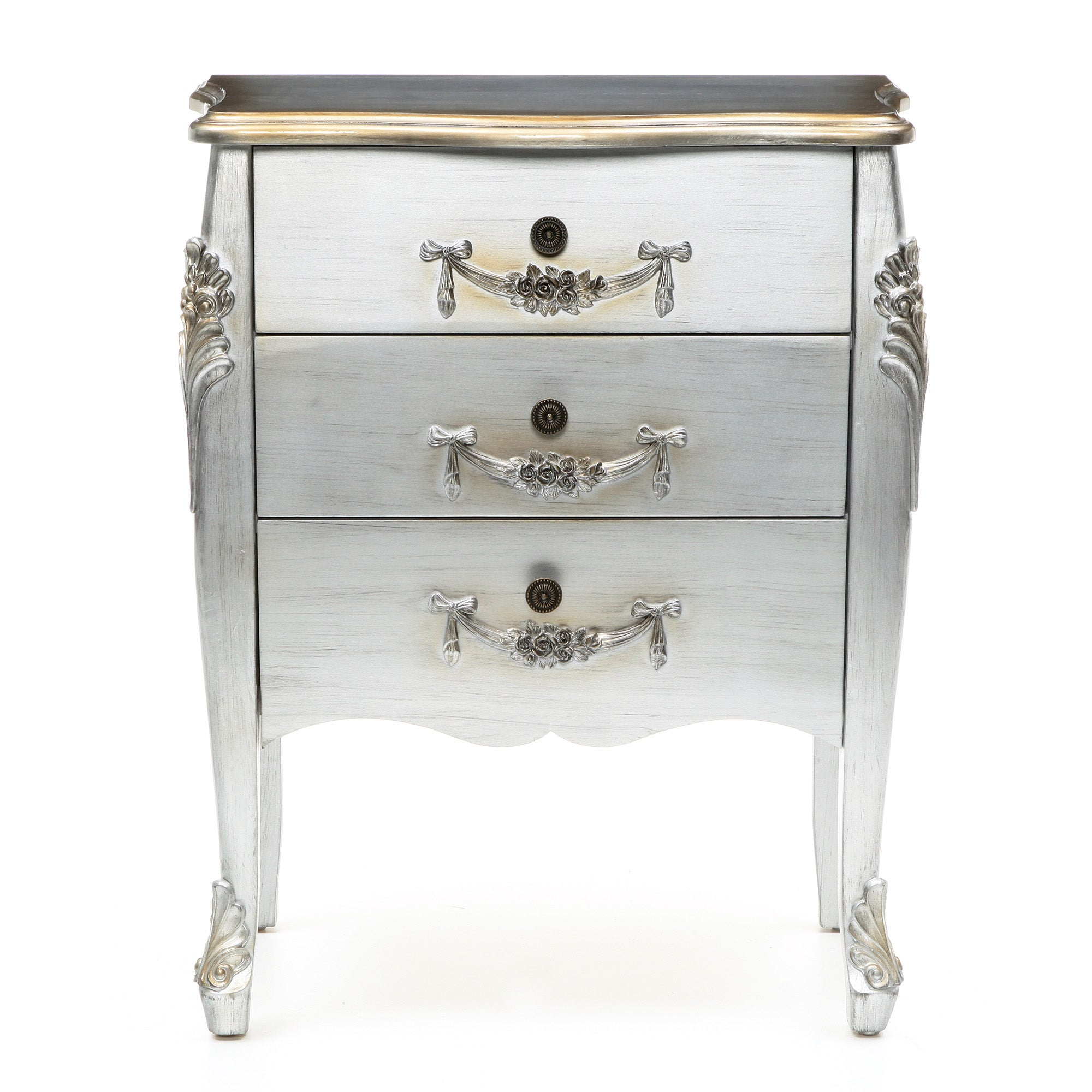 Toulouse Silver 3 Drawer Chest