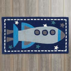 Kids Space Rocket Rug