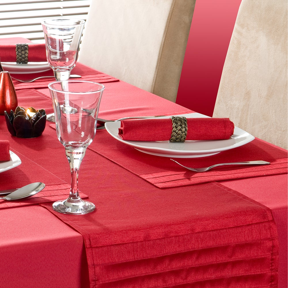 Red Spectrum Collection Table Runner