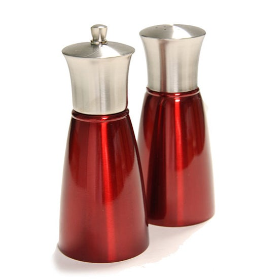 Red Spectrum Collection Salt and Pepper Mill Set