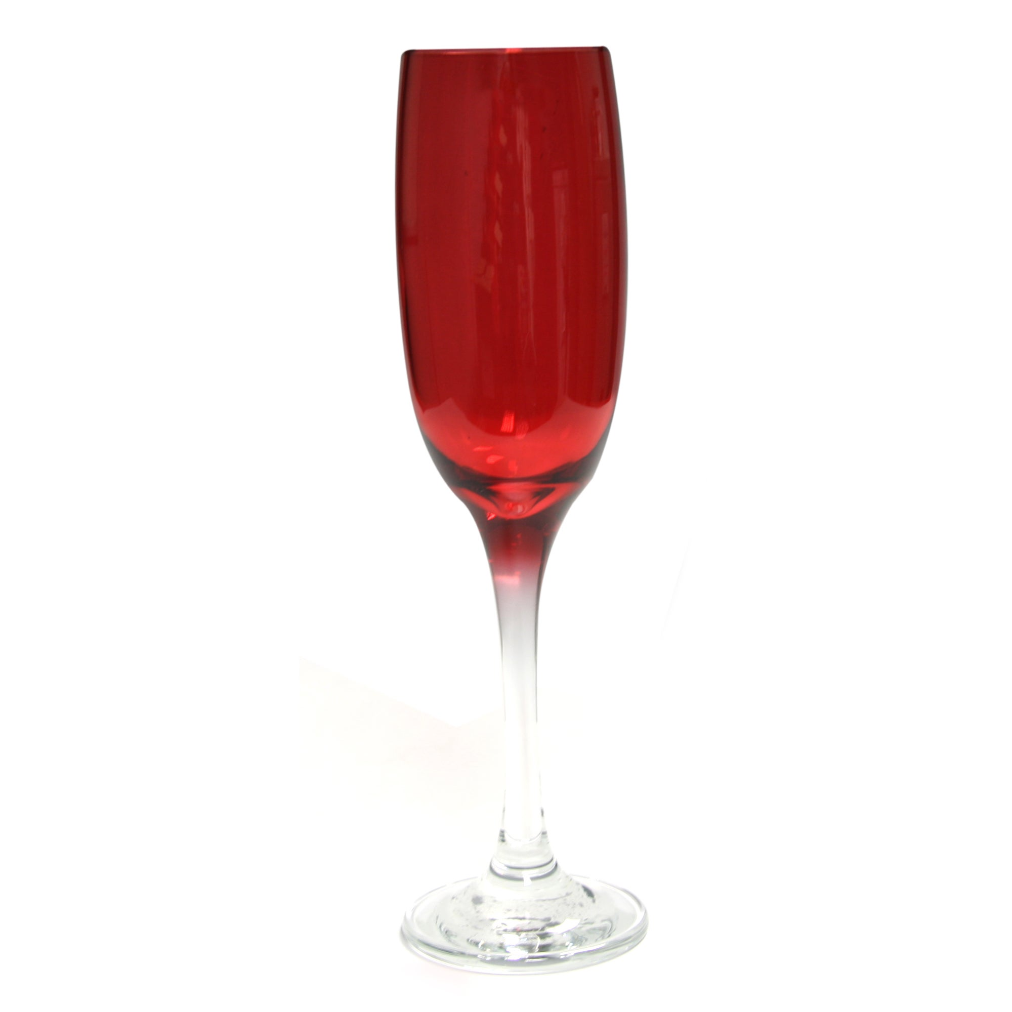 Red Spectrum Collection Champagne Flute
