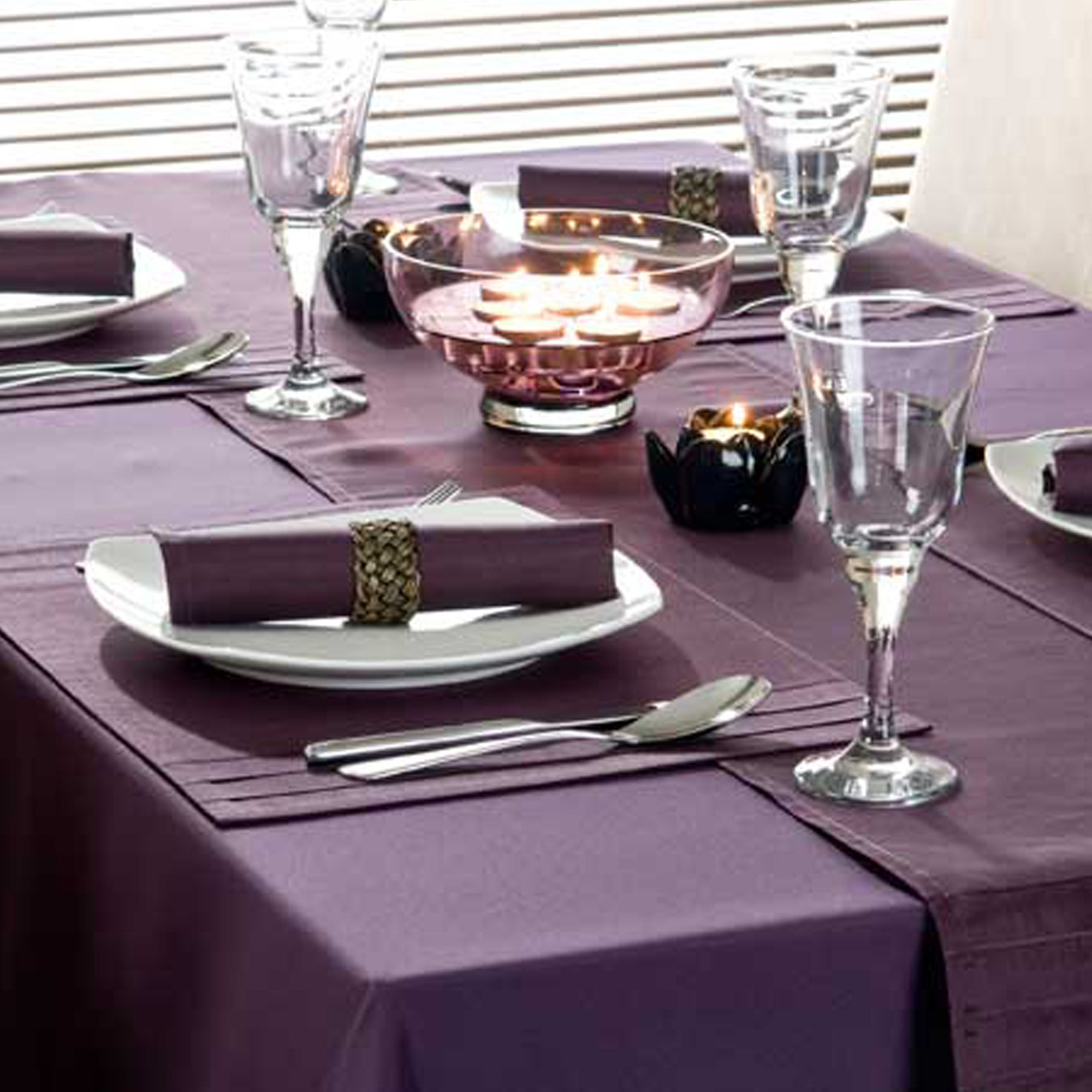 Purple Spectrum Collection Round Tablecloth