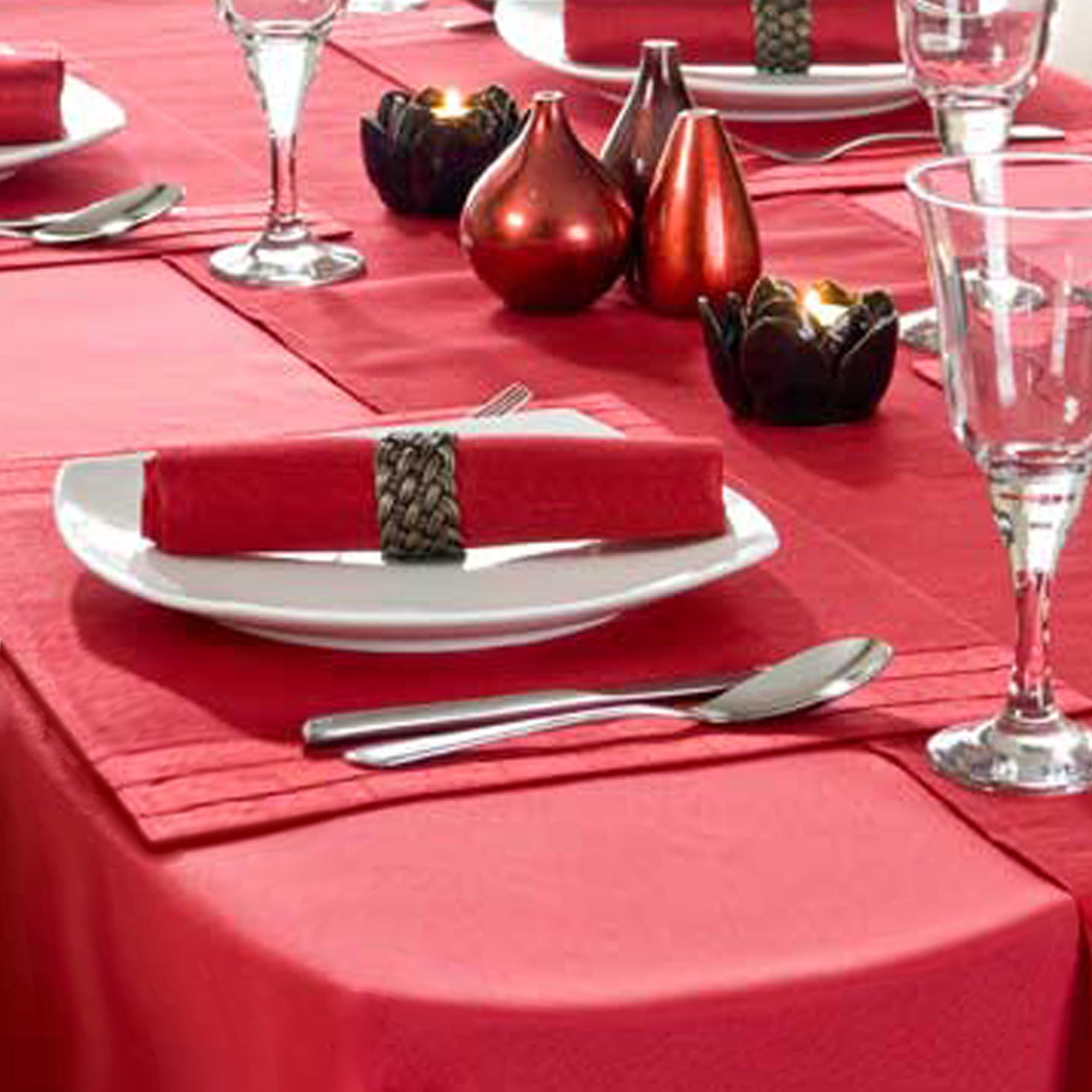 Red Spectrum Round Tablecloth