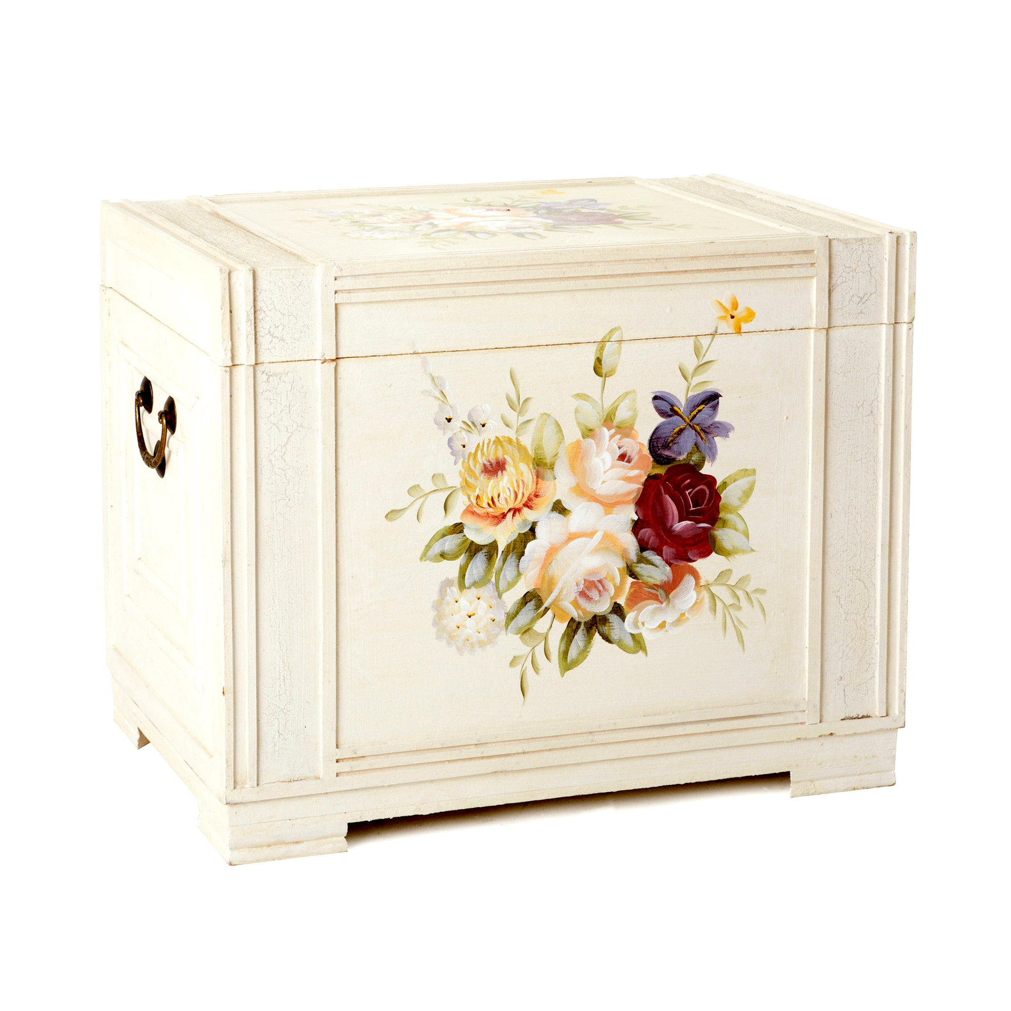 Rose Hand Painted Storage Chest