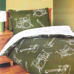 Kids Reversible Rock Duvet Cover Set