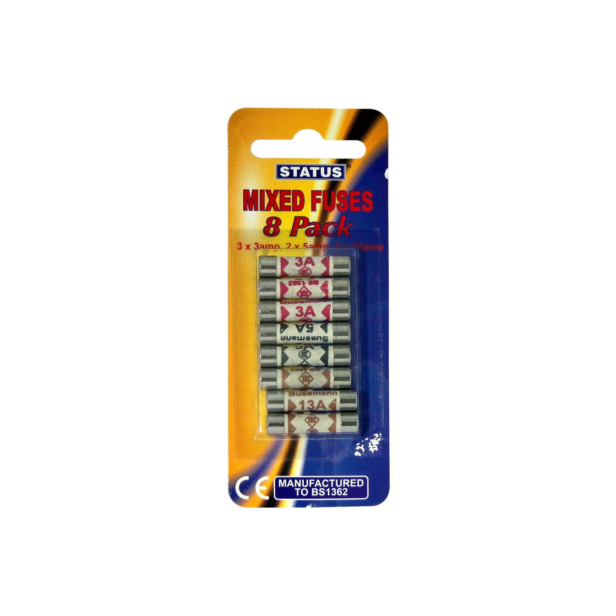 Pack of 8 Status Assorted Fuses