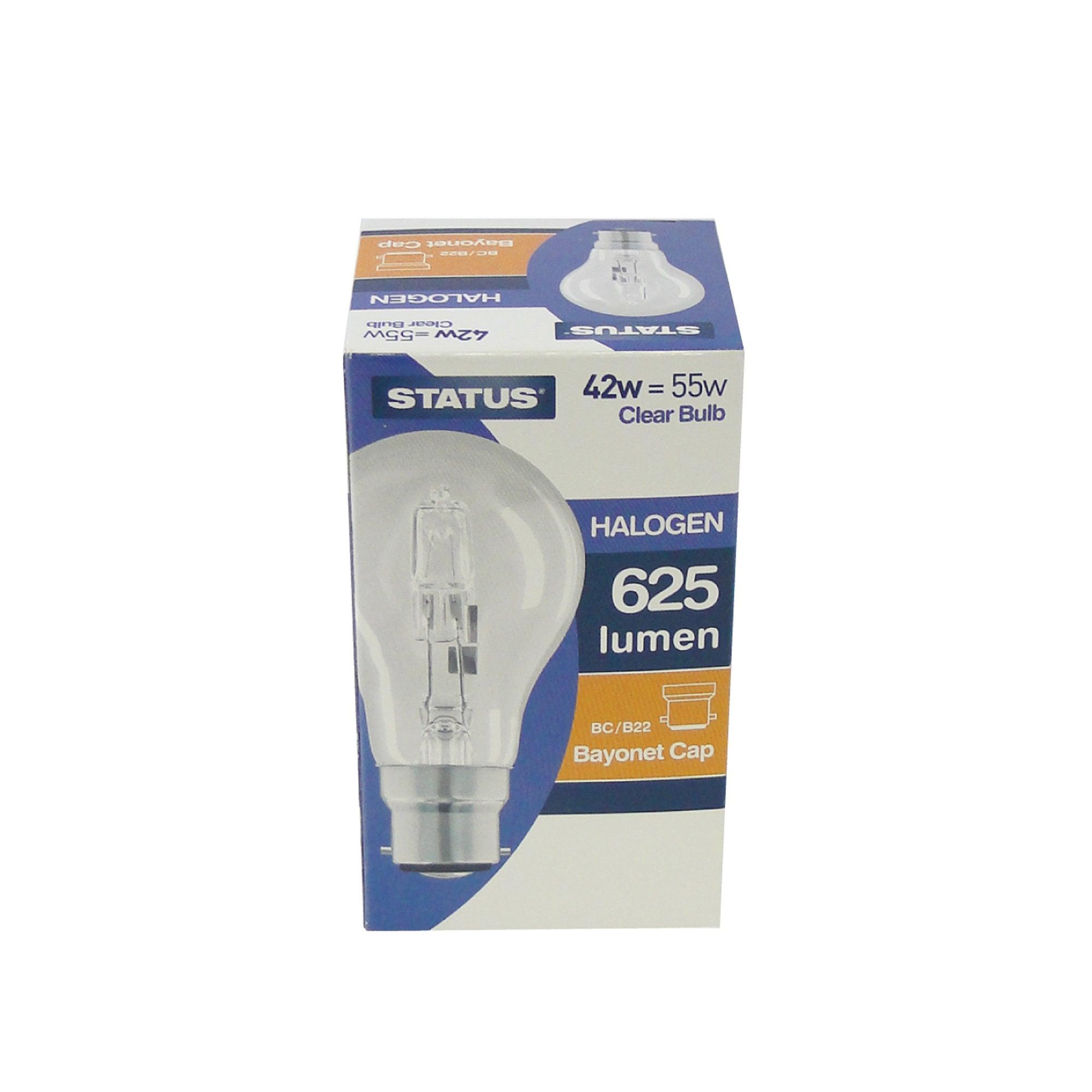Status Halogen Energy Saver 42 Watt GLS Bulb