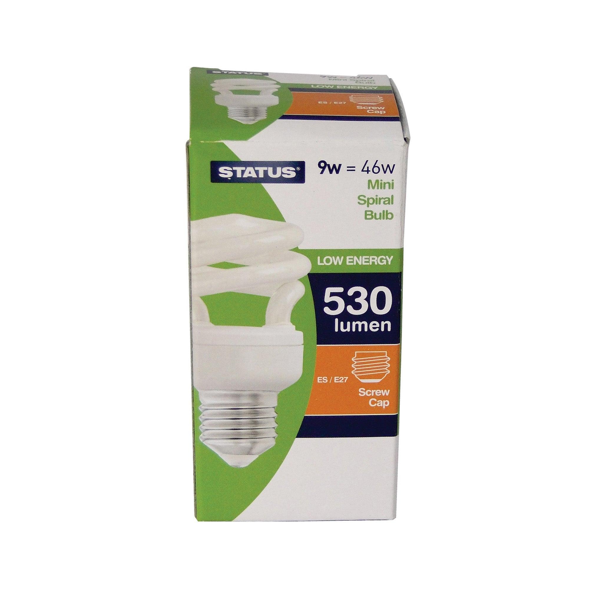 Status Halogen Energy Saver ES 9 Watt Spiral Bulb