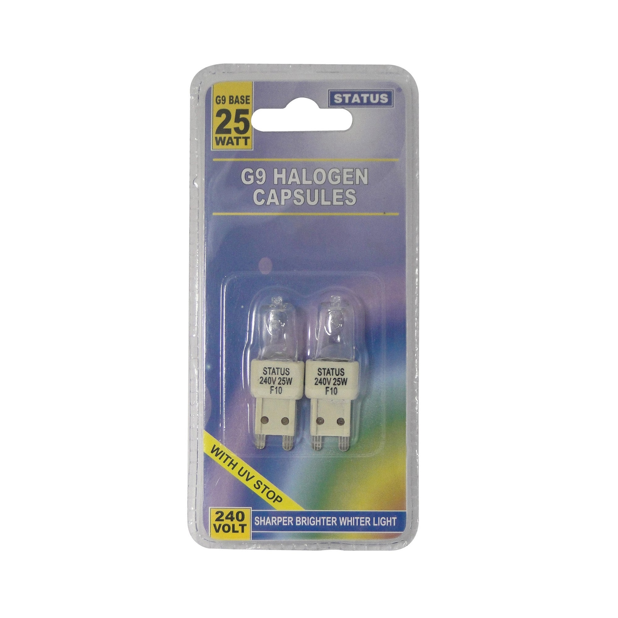 Status Pack of 2 20 Watt G9 Halogen Capsules