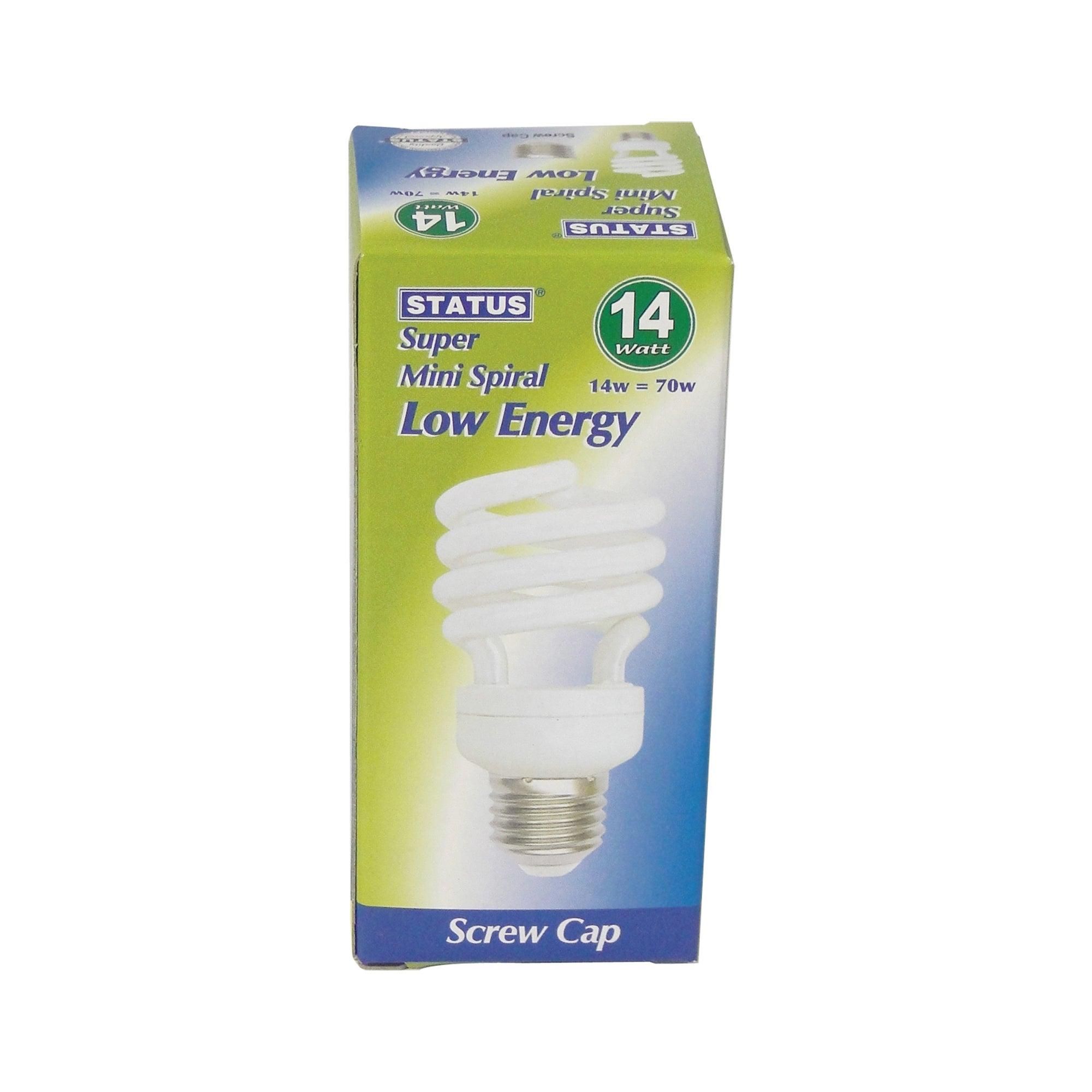 Status Halogen Energy Saver ES 14 Watt Spiral Bulb