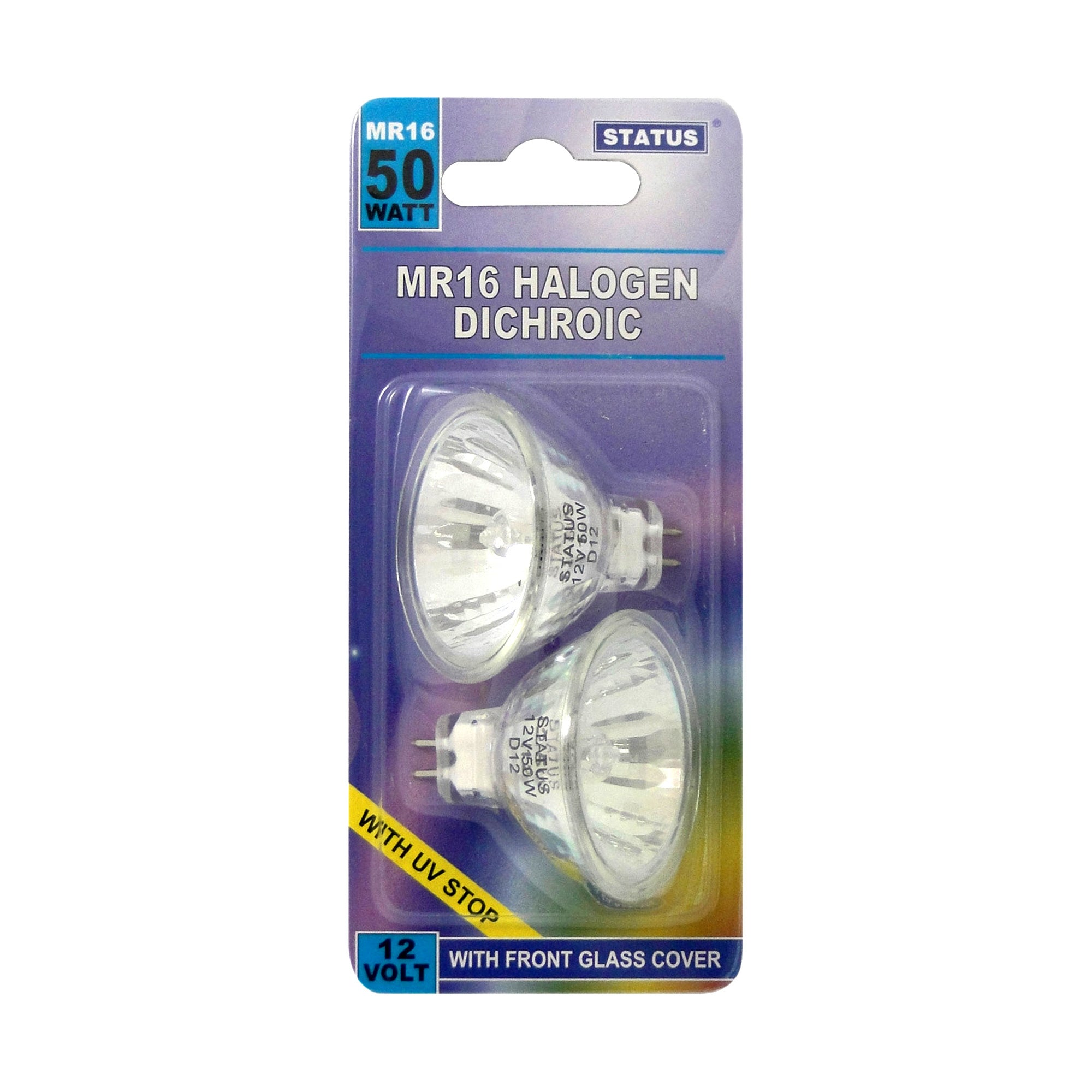 Status 50 Watt Halogen Bulb 2 Pack