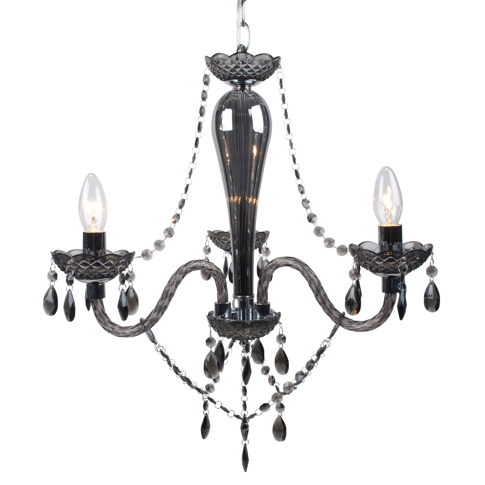 Pewter Antoinette 3 Light Fitting