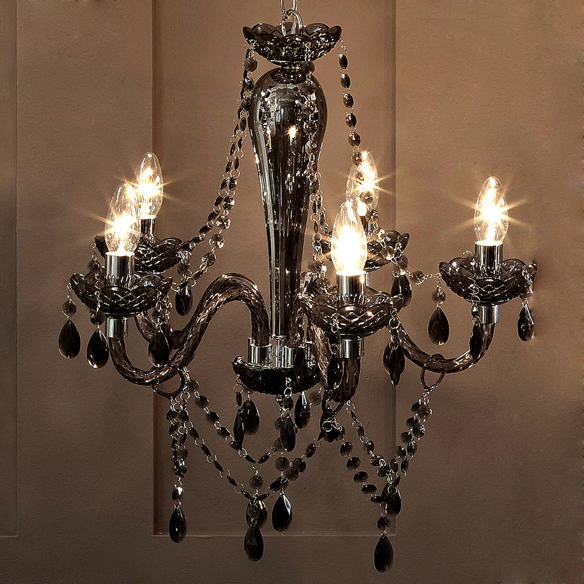 Pewter Antoinette 5 Light Chandelier