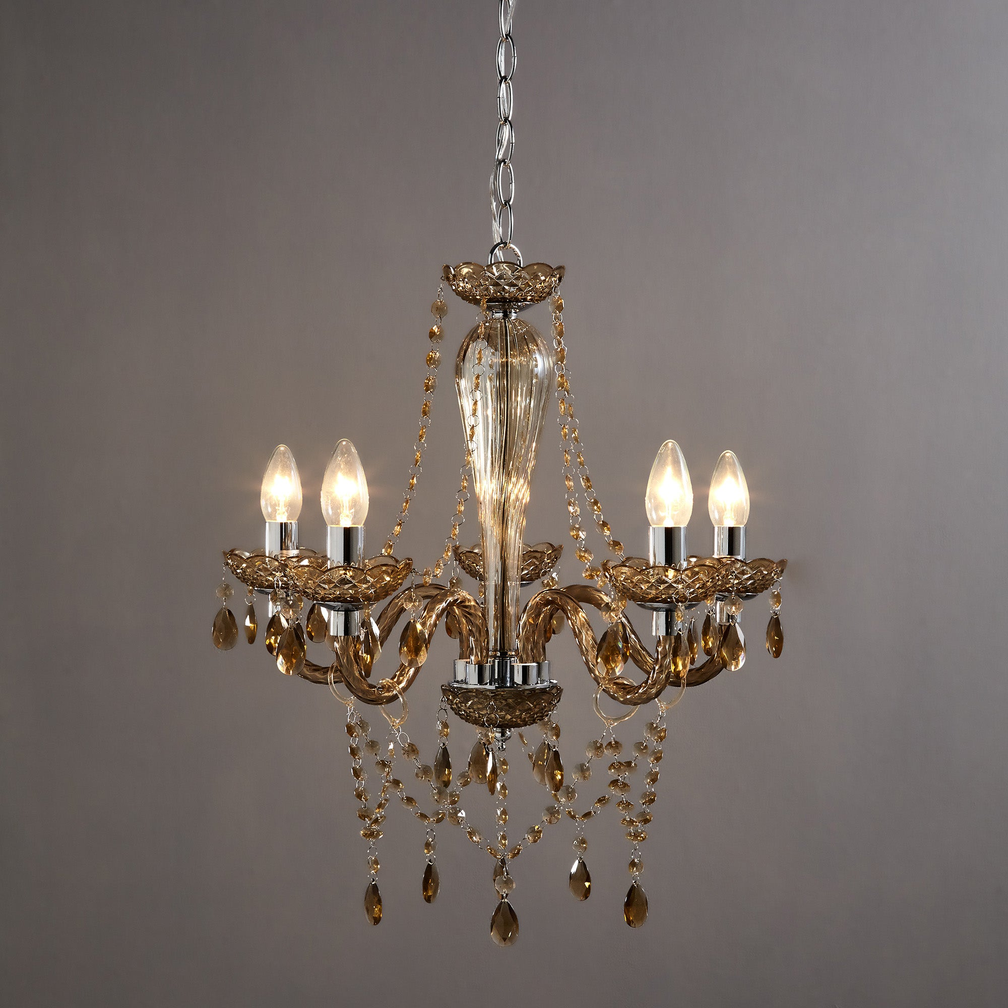 Champagne Antoinette 5 Light Fitting