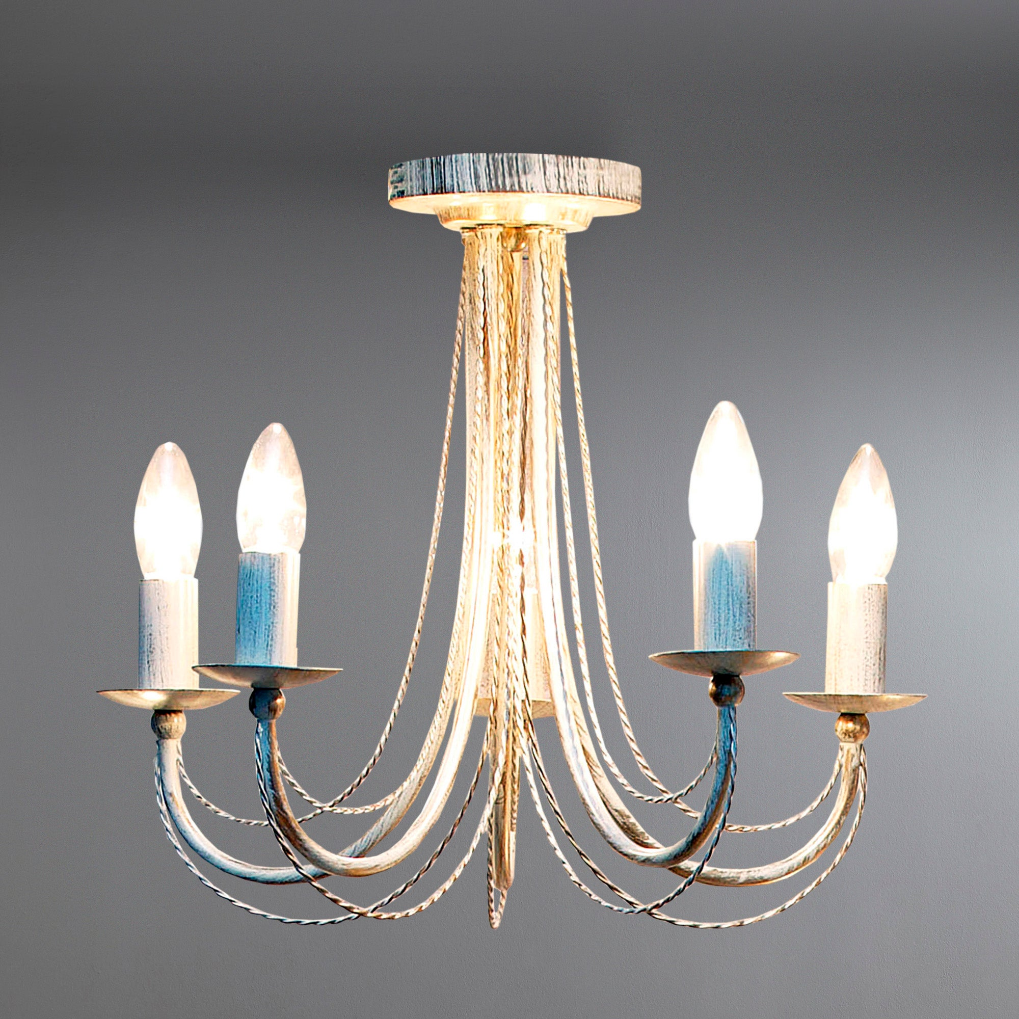 Classic Rope 5 Light Fitting
