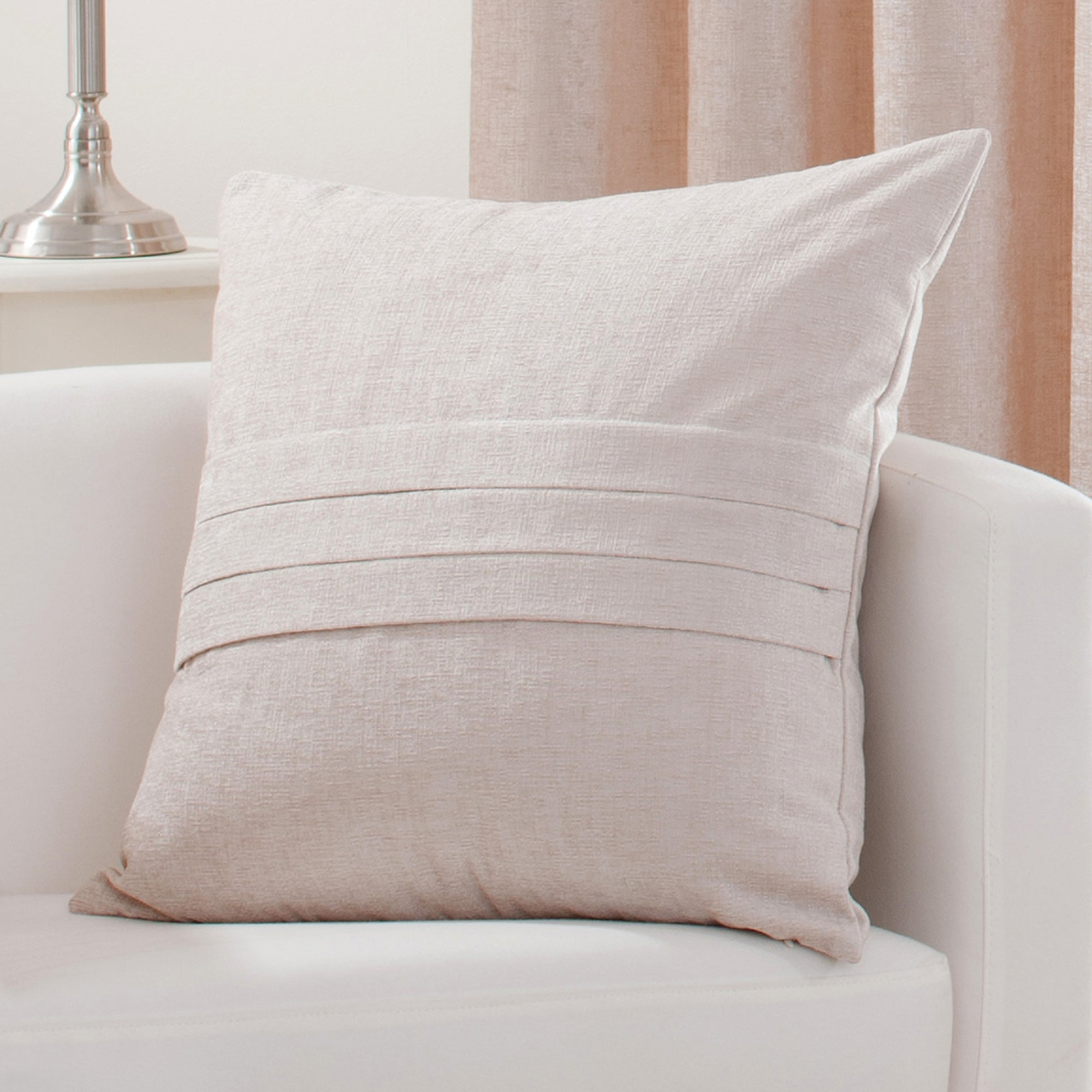 Cream Chenille Collection Cushion