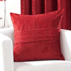Red Chenille Collection Cushion