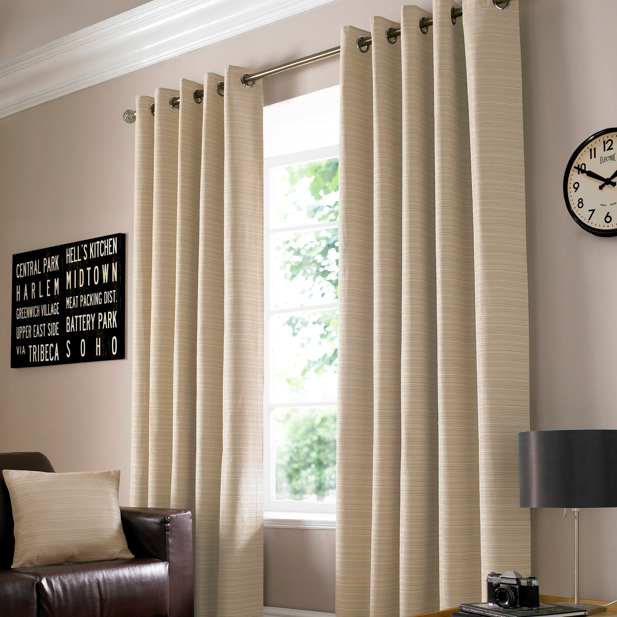 Latte Urban Curtain Collection