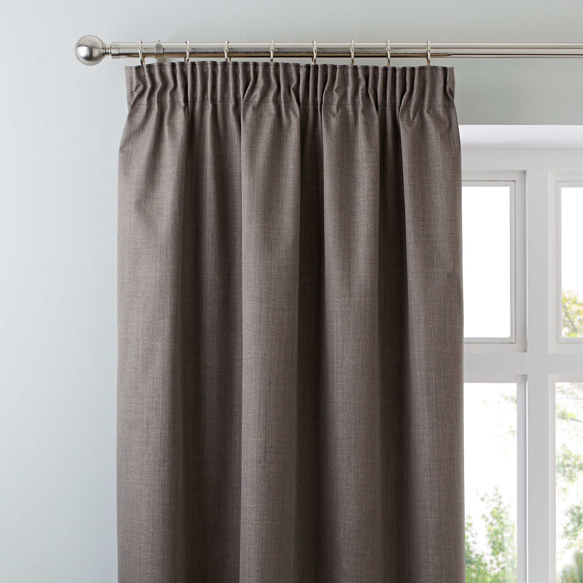 Waters and Noble Stone Solar Blackout Pencil Pleat Curtains