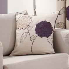 Plum Louisa Collection Square Cushion